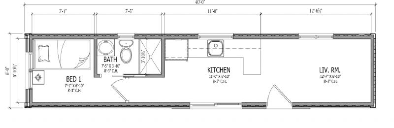 New 40 1-bedroom plan